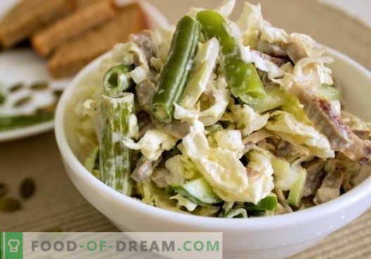 Sałatka z żołądkiem z kurczaka - wybór najlepszych przepisów. Jak prawidłowo i smacznie przygotować sałatkę z żołądkami z kurczaka.