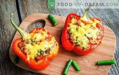 Polnjena paprika v pečici s sirom - zagotovo bo super! Recepti za polnjene paprike v pečici s sirom