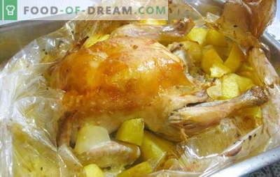 Kurczak w rękawie z ziemniakami w piekarniku jest super łatwy! Przepisy z kurczaka w rękawie z ziemniakami w piekarniku i całe kawałki