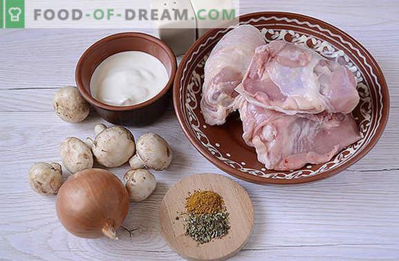 Gulasz z kurczaka z grzybami: odżywczy i pachnący! Autorski przepis na szybkie gotowanie kurczaka z grzybami w wolnej kuchence