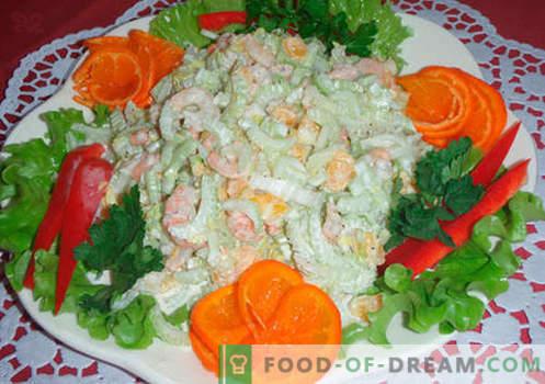 Oryginalne sałatki - wybór przepisów. Oryginalne sałatki na świąteczny stół i na każdy dzień.