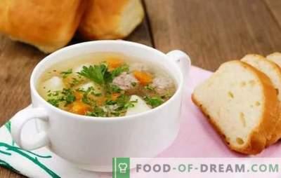 Łatwe przepisy na domowe zupy z klopsików (krok po kroku). Zupy mięsne, z kurczaka i ryby z klopsikami