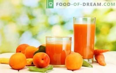 Abrikozensap voor de winter - zonnig drankje! Verschillende manieren om abrikozensap voor de winter thuis te oogsten