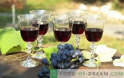 Vino de uva negro: preparación de materias primas y tecnología de preparación. Recetas de vino casero de uvas negras