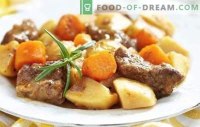 Ziemniaki z mięsem na patelni - przepisy krok po kroku na pyszne jedzenie. Kuchnia rodzinna: ziemniaki z mięsem w rondlu z przepisami krok po kroku
