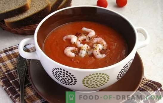 Zupa pomidorowa z krewetkami - aromatyczny przysmak. Najlepsze przepisy na zupę pomidorową z krewetkami i innymi owocami morza
