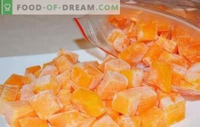 Zamrzovanje buč v rezinah ali v obliki pire krompirja. Kako zamrzniti surovo bučno, pečeno in kaj kuhati iz njega