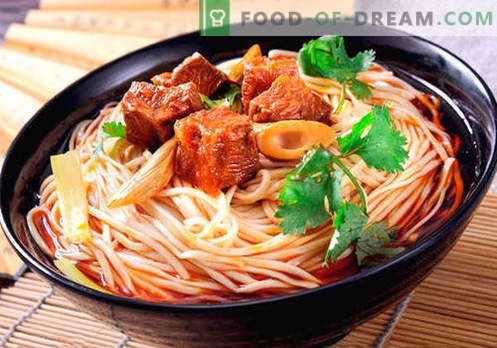 Hiina nuudlid - parimad retseptid. Kuidas korralikult ja maitsvalt süüa Hiina nuudleid kodus.