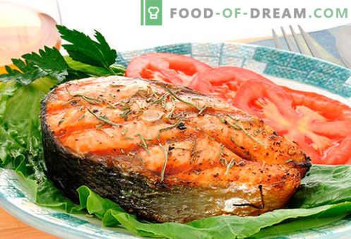 Stek z łososia - najlepsze przepisy. Jak prawidłowo i smacznie gotować stek z łososia.