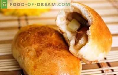 Paszteciki drożdżowe z jabłkami w piekarniku - przystojne! Przepisy na ciasto i nadzienia do ciast drożdżowych z jabłkami w piekarniku