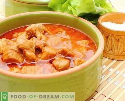Salsa di pollo - le migliori ricette. Come cucinare correttamente e gustoso sugo di pollo.