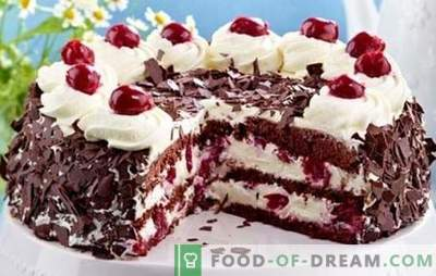 """Ciasto """"Czarny Las"""" według klasycznych receptur niemieckich cukierników. Różne warianty ciasta z Czarnego Lasu z serem, śmietaną i wiśnią"""