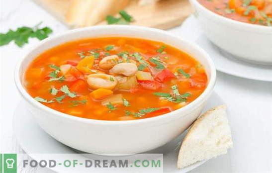 Zupa fasolowa w wolnej kuchence bez kłopotów. Przepisy Zupa fasolowa w powolnym garnku z suchej i konserwowanej fasoli