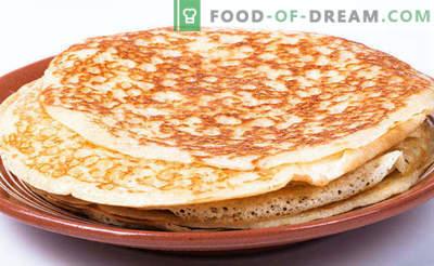 Pâte à la levure pour crêpes, maigre, acide, sans oeufs