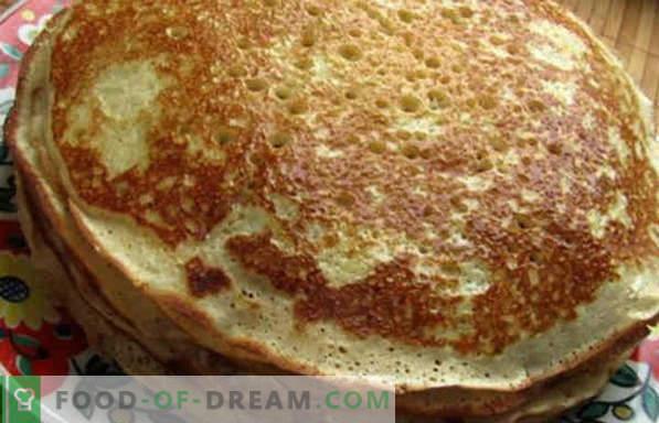 Ciasto drożdżowe na naleśniki, chude, kwaśne, bez jaj