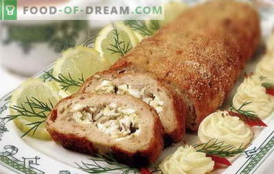 Pieczeń zrobiona z mielonego mięsa - nietypowa jak zwykle! Przepisy różnych bułek mięsnych z mielonego mięsa w piekarniku: z jajkami, grzybami, serem, pomidorem