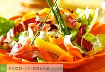 Salatid hapukoorega - valik parimaid retsepte. Kuidas õigesti ja maitsvat salat hapukoorega.