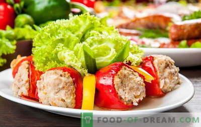 Papryka faszerowana mięsem i ryżem - to jest pomysł! Przepisy nadziewania i polewania pieprzem nadziewanym mięsem i ryżem