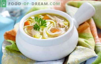 Zupa z makaronem z kurczaka z ziemniakami - domowej roboty! Wybór przepisów na rosół z makaronem i ziemniakami