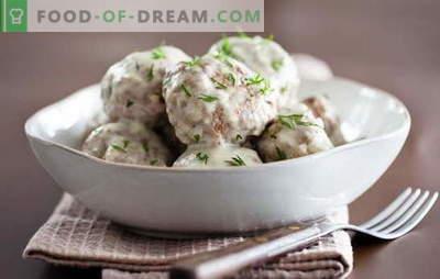 Dla miłośników klopsików w kremowym sosie: nowe przepisy. Jak gotować klopsiki w kremowym sosie szybko i smacznie