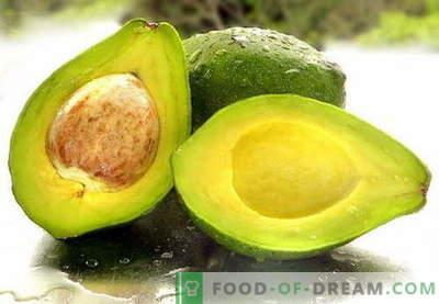 Awokado - użyteczne właściwości, stosować w gotowaniu. Przepisy z awokado.