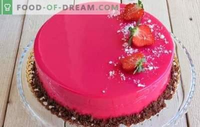 Ciasto musowe jest piękne i niezwykle smaczne! Przepisy na ciasta musowe z lustrzanym lukrem na skondensowanym mleku, z kakao i czekoladą