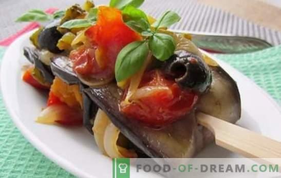 Pieczone bakłażany z warzywami w piekarniku - kulinarne fantazje. Jak gotować pieczone bakłażany z warzywami w piekarniku