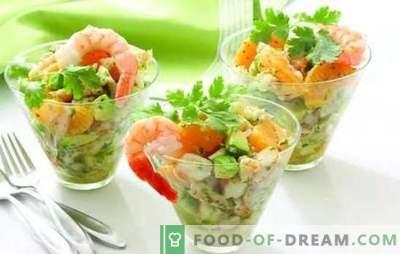 Lekkie sałatki bez majonezu: smaczne, satysfakcjonujące, nowe. Najlepsze przepisy na lekkie sałatki bez majonezu z serem, jajkami, chlebem pita, wątrobą dorsza