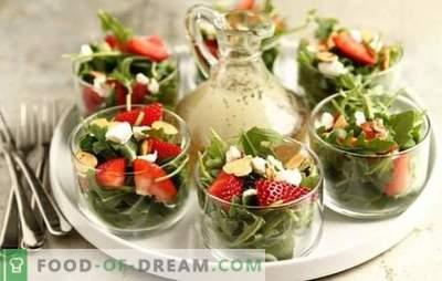 Sałatki z truskawkami, owocami, warzywami, serem, orzechami, grzybami. Jak zrobić zdrowe i smaczne sałatki truskawkowe?
