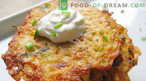 Placki ziemniaczane - najlepsze przepisy. Jak właściwie i smacznie gotować placki ziemniaczane.