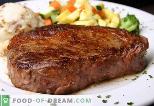 Beefsteak - najlepsze przepisy. Jak właściwie i smacznie gotować wołowinę ze steków, posiekaną i mieloną.