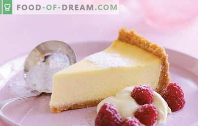 Cheesecake al mascarpone - una torta al formaggio dal gusto cremoso. Ricette per vaniglia, ricotta, cheesecake alla fragola con mascarpone