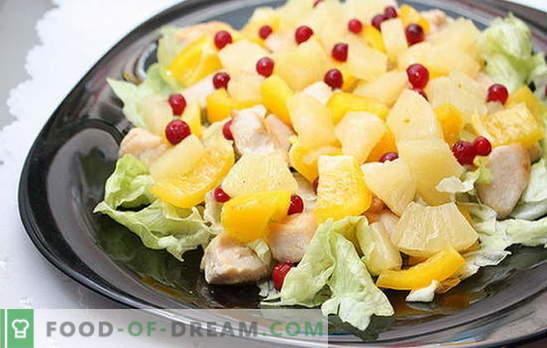 Egzotyczne Kulinarne Arcydzielo Salatka Z Filetem Z Kurczaka I