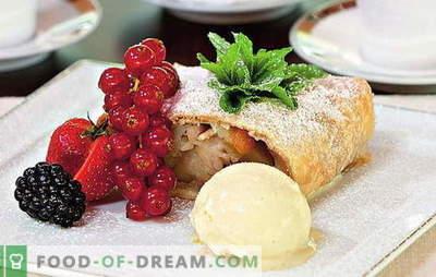 Strudel jabłkowy z ciastem francuskim - świetne pieczenie! Nadzienia i przepisy na strudel z jabłkami francuskimi