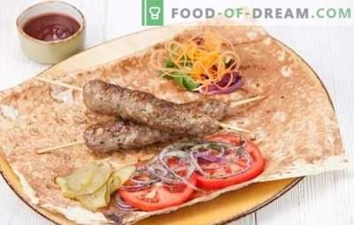 Kebab z wieprzowiny jest najlepszą alternatywą dla kebabu. Przepisy na wieprzowinę lula kebab na grillu, w piekarniku i patelni