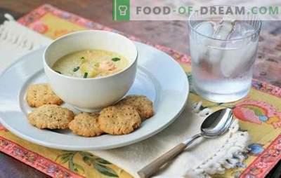 Zupa rybna ze śmietaną - alternatywa dla ucha. Najlepsze przepisy na zupę rybną ze śmietaną łososia, makreli, mintaja, pstrąga i różowego łososia