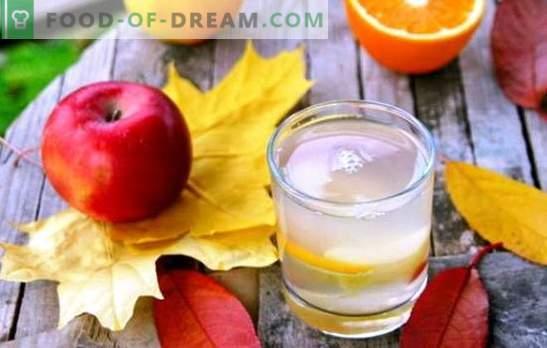 Kompot z jabłek i pomarańczy - pyszny napój z nutami egzotycznymi. Wybór najlepszych kompotów jabłek i pomarańczy