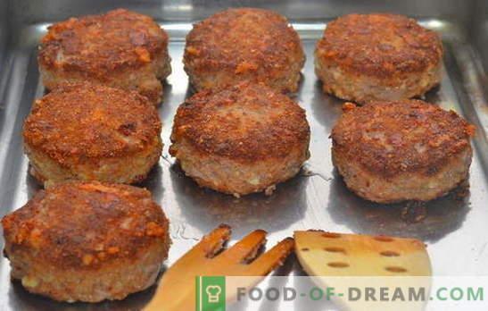 Kotlety z mięsa mielonego w piekarniku - zawsze udane! Przepisy na paszteciki z mięsa mielonego w piekarniku: z wieprzowiną, wołowiną i drobiem