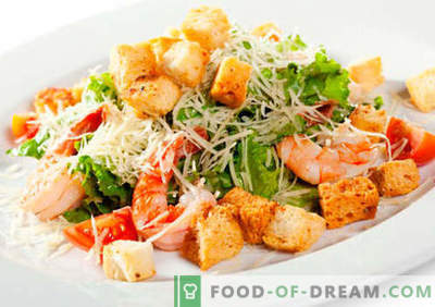 Sałatka z owocami morza - sprawdzone przepisy. Jak prawidłowo i smacznie gotować sałatkę z owoców morza.