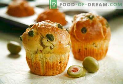 Babeczki: czekolada, banan, ser, kefir - najlepsze przepisy. Jak upiec muffiny z nadzieniami w domu.