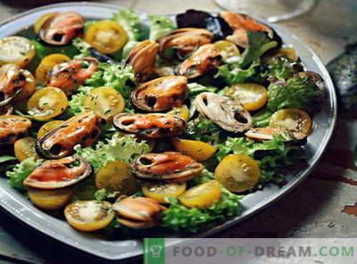 Sałatka z małży - najlepsze przepisy. Jak prawidłowo i smacznie gotować sałatkę z małży.