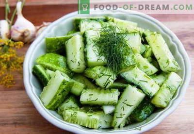 Sałatka z ogórka - najlepsze przepisy. Jak właściwie i smacznie gotować sałatki z ogórka.