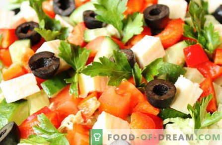 Sałatki bez majonezu - najlepsze przepisy. Jak właściwie i smaczne sałatki gotować bez majonezu.