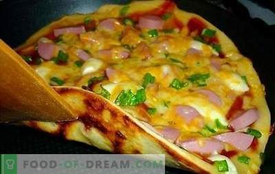 Receptas picai, originalus! Geriausios picos receptai mielių, skystų ar bulvių tešlos keptuvėje
