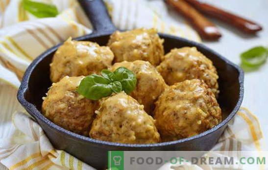 Klopsiki w sosie ze śmietany - najlepsze przepisy. Jak gotować klopsiki w sosie śmietanowym z kurczaka, wołowiny, mielonej ryby