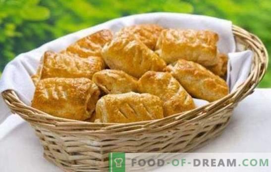 Ptysie z serem - pachnące smaczne wypieki na śniadanie lub kolację. Przepisy na ciasta francuskie z serem i grzybami, twarożek, jagody