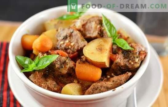 Duszone ziemniaki z mięsem: przepisy krok po kroku na domowe przysmaki. Gulasz ziemniaczany z mięsem w piekarniku, wielofunkcyjna kuchenka i szybkowar