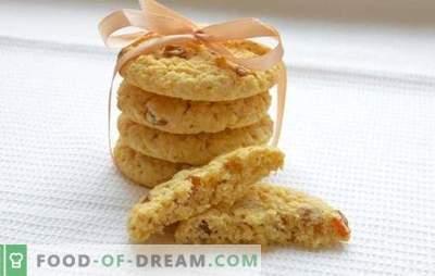 Minkšti avižiniai sausainiai - receptai ir gudrybės. Kaip kepti minkštus avižinius sausainius su medumi, riešutais, apelsinais, obuoliais, varškėmis