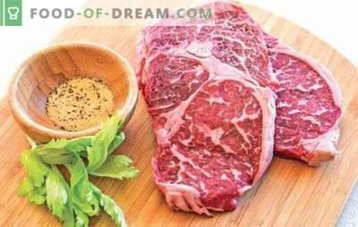 Marmurkowaty stek wołowy - przysmak mięsny! Przepisy i wszystkie sposoby gotowania marmurkowych steków wołowych w piekarniku, na kuchence i na grillu