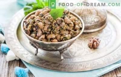 Biała fasola lobio - klasyczna kuchnia gruzińska. Przepisy White Bean Lobio z warzywami, pieczarkami, kurczakiem